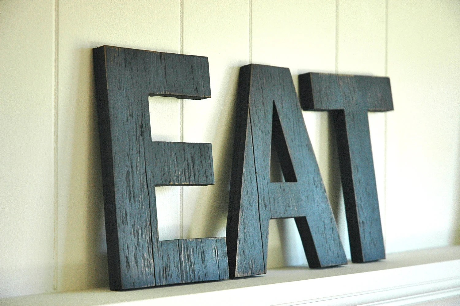 Best Eat Wall Art Large Letters Handmade Wood Sign By Shophomegrown This Month