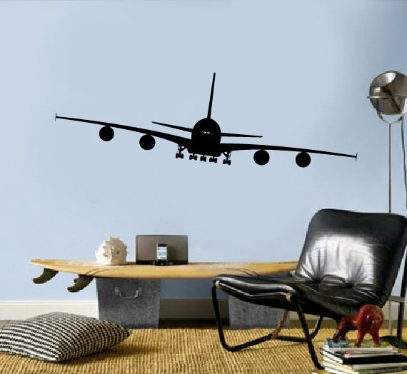 Best Airplane Vinyl Decals Aviation Wall Decor By Modernwalldecal This Month