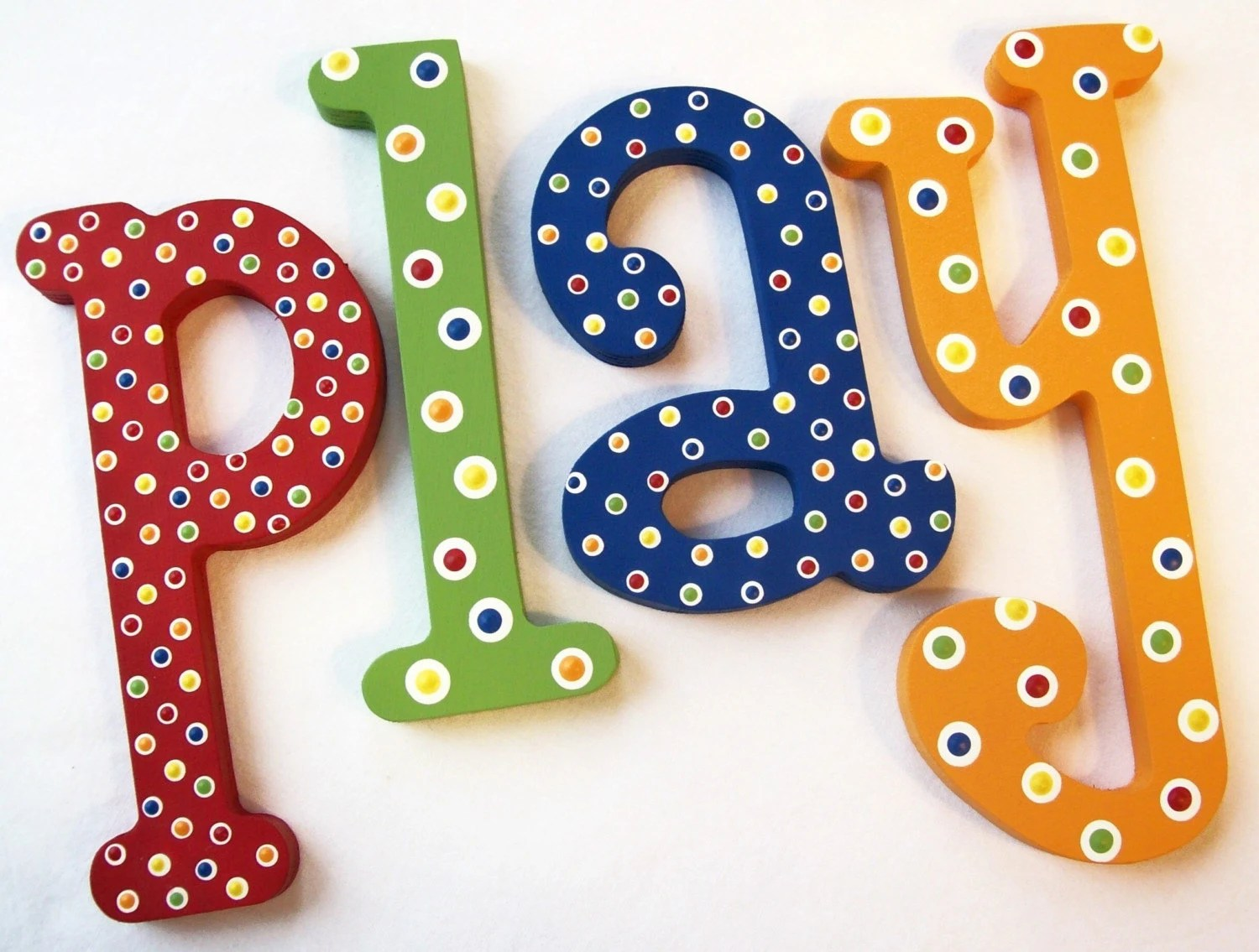 Best Play Hand Painted Decorative Wooden Letters Priced By This Month
