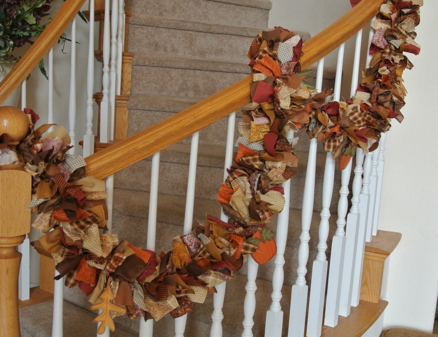 Best Fall Garland With Ornaments By 4Allseasons On Etsy This Month