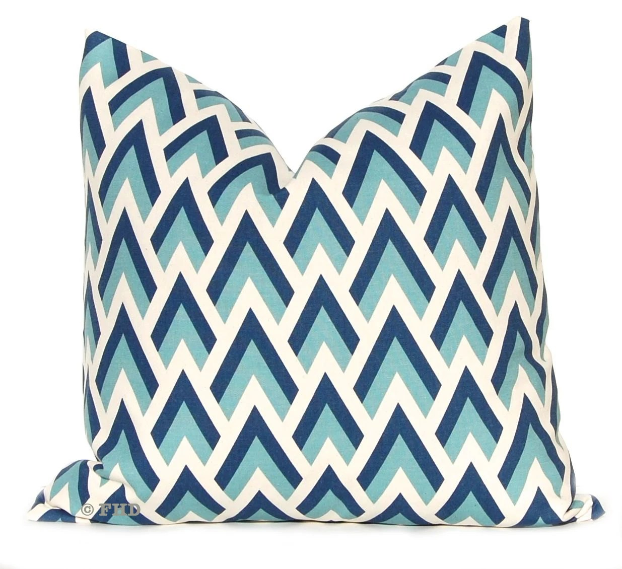 Best Decorative Throw Pillow Covers Navy And Aqua By This Month