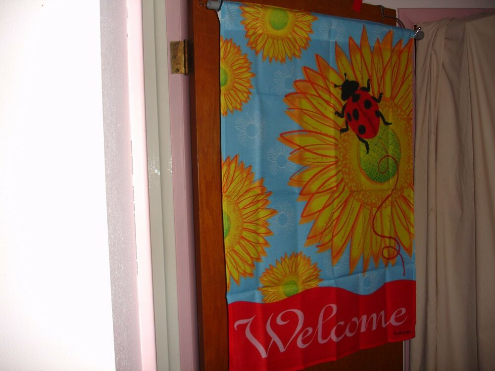 Best Large House Yard Decorative Flag 28X40 Ladybug Welcome This Month