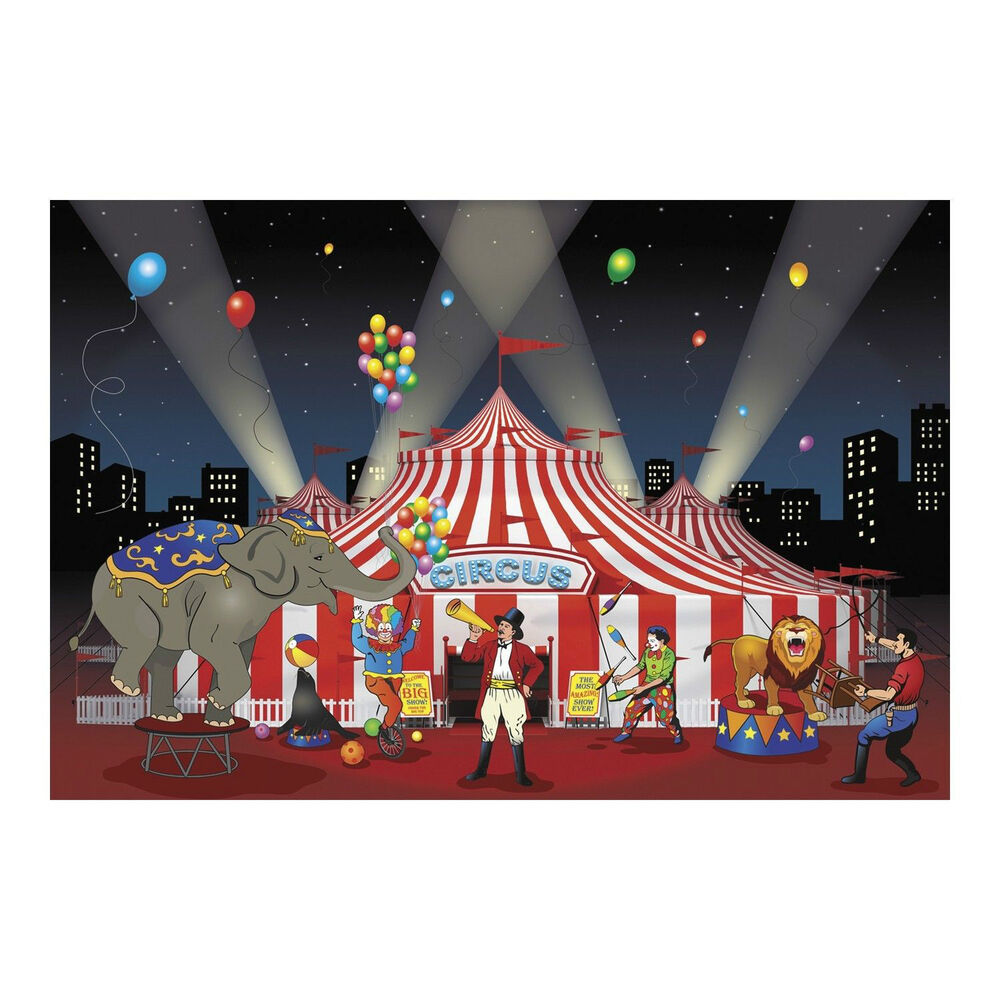 Best 3Pc Set Carnival Circus Big Top Party Decoration Backdrop This Month