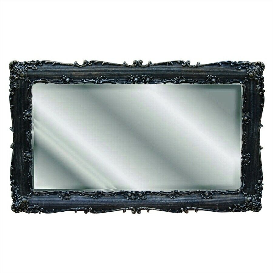 Best Hickory Manor Decorative Rectangle Mirror Black Gold This Month