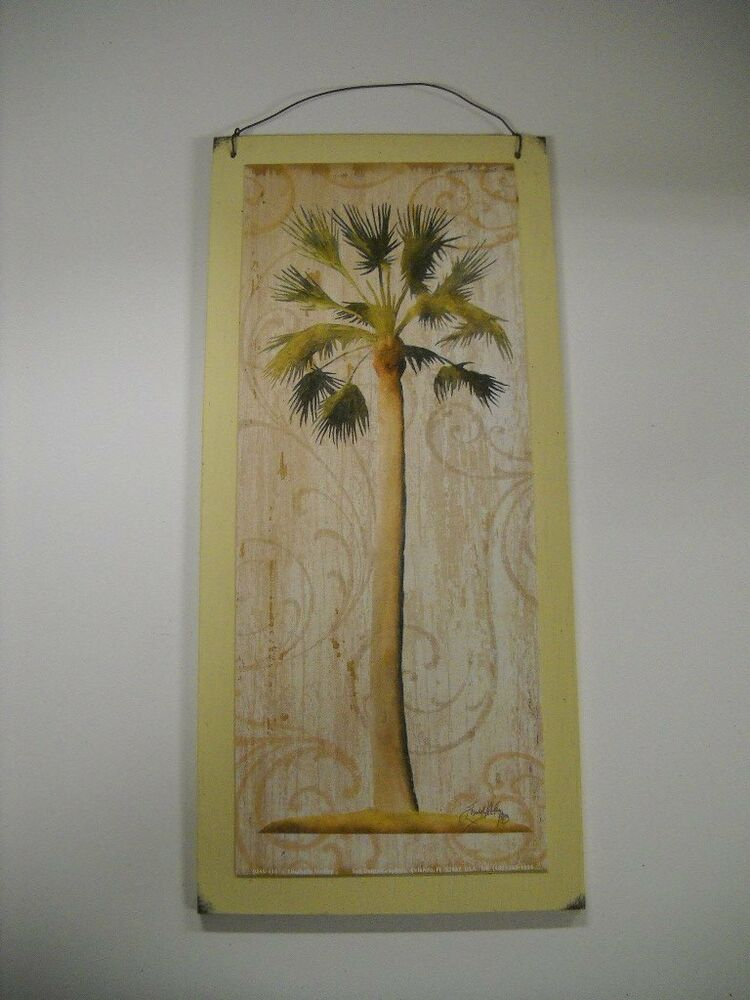 Best Palm Tree Tropical Wooden Wall Art Sign Wood Beach Decor This Month