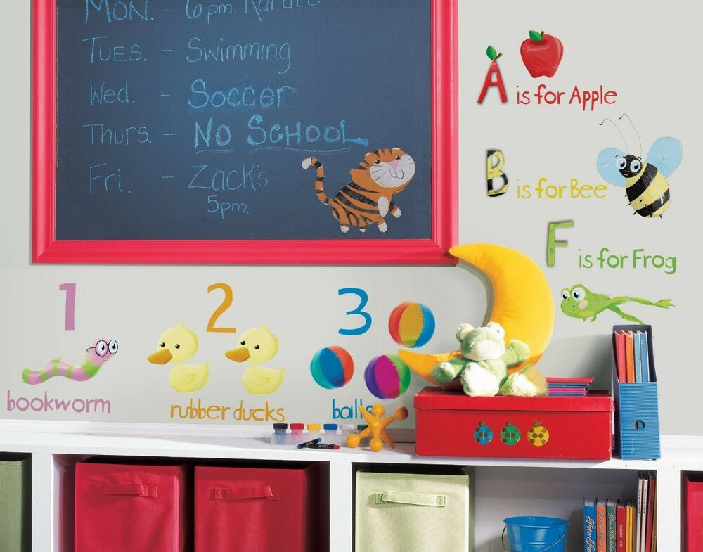 Best Abc 123 Wall Stickers Room Decor School Alphabet Decals This Month