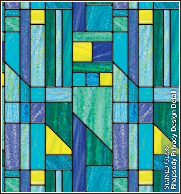 Best Rhapsody Privacy Stained Glass Decorative Window Film Blue This Month