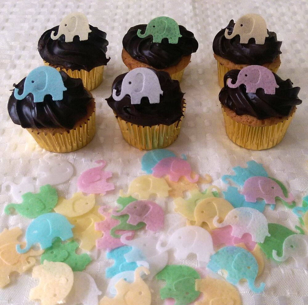 Best 40 Edible Rice Paper Mini Elephant Baby Shower Cupcake This Month