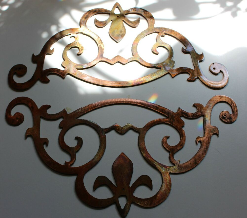 Best Metal Wall Art Accent Scroll Corners Set Of 2 Ebay This Month