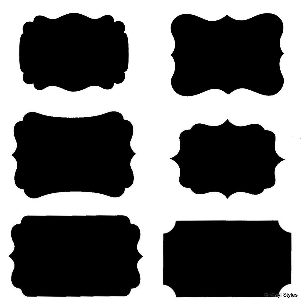 Best Vinyl Fancy Rectangle Chalkboard Label Decal Wedding This Month
