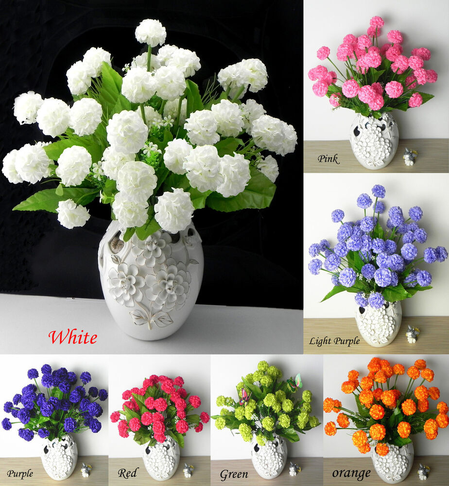 Best 36 Pcs Artificial Silk Hydrangea Flower Floral Wedding This Month