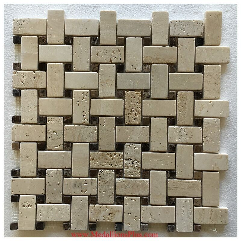 Best Honed Travertine Basket Weave Kitchen Mosaic Border Tile This Month