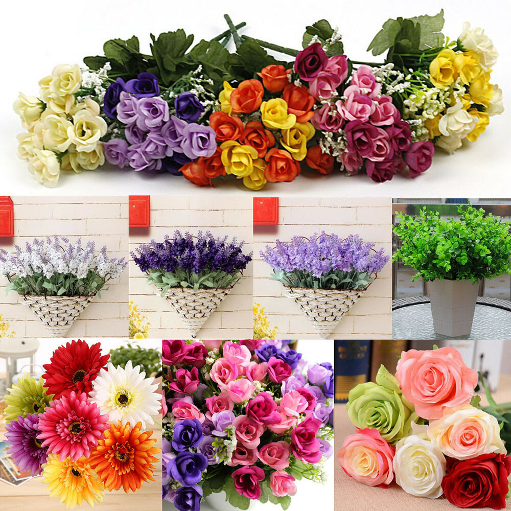 Best Wholesale Mix Artificial Silk Flower Bouquet Home Wedding This Month