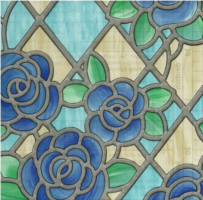 Best Amiens Blue Stained Glass Decorative Window Film Self This Month