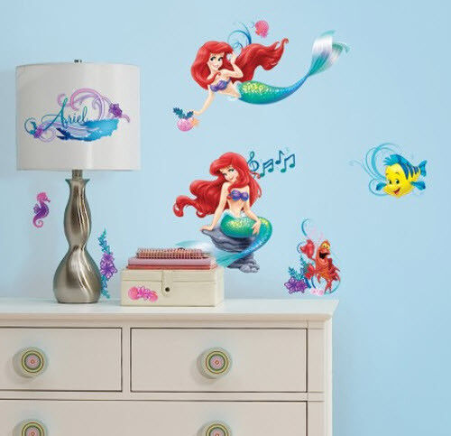 Best Ariel Little Mermaid Wall Stickers 43 Decal Disney Room This Month