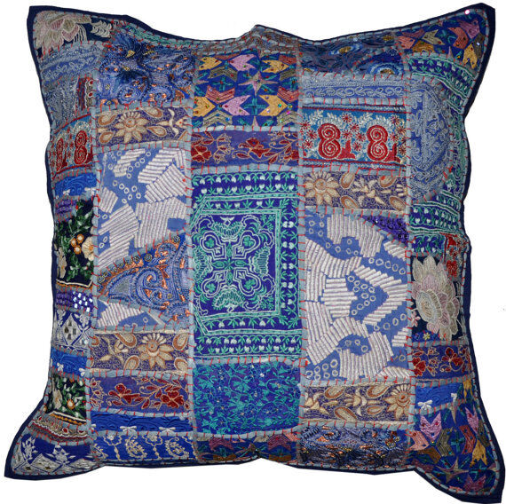 Best 24X24 Vintage Decorative Throw Pillows Blue Couch Pillows This Month