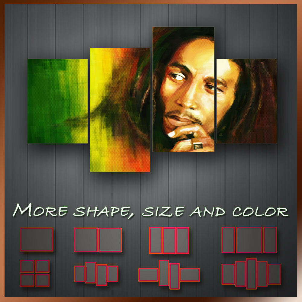 Best Bob Marley Music Icon Wall Art Box Split Canvas More This Month