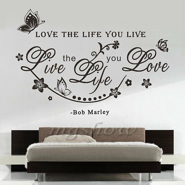 Best Bob Marley Quote Love The Life You Live Art Butterfly Home This Month