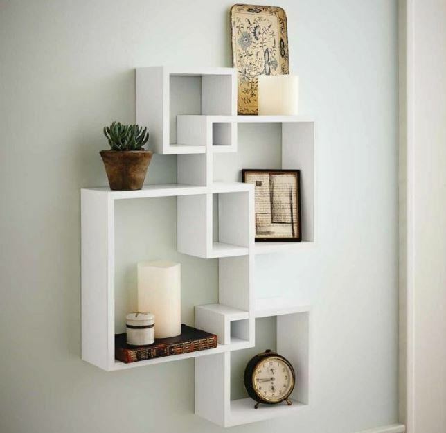 Best Decorative White Floating Wall Wood Shelves Shelf Display This Month