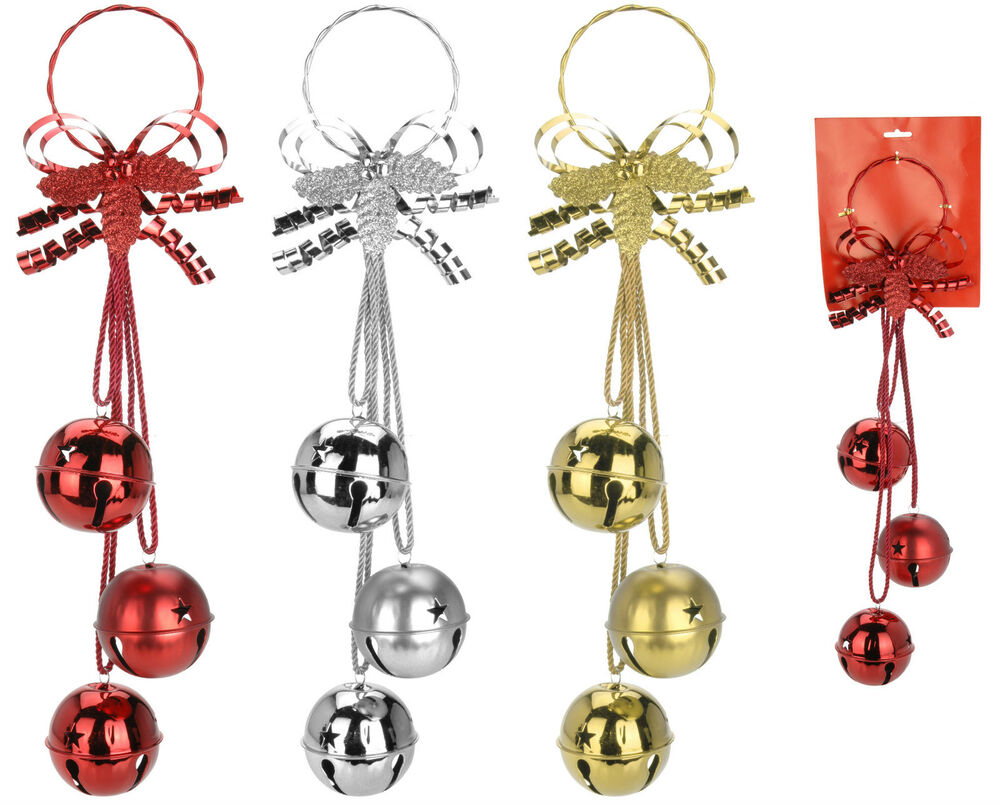 Best 3 Large Oversize Christmas Bells Wall Hanging Christmas This Month