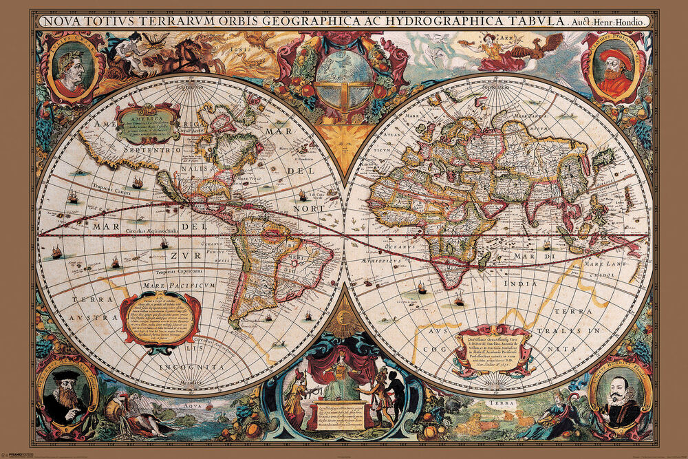 Best 17Th Century Old World Map Home Decor Canvas Print Choose This Month