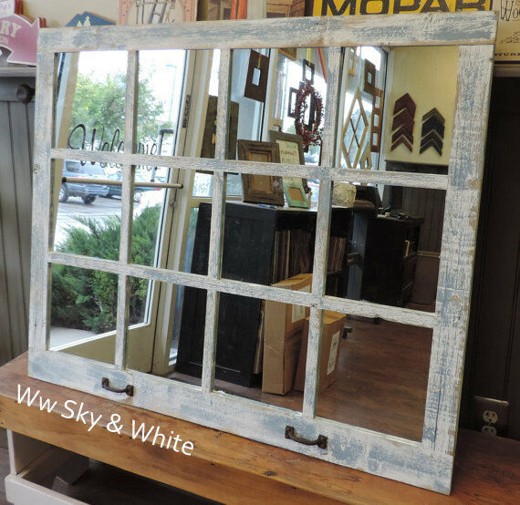 Best New Rustic Farmhouse Reclaimed Distressed Barn Wood Window This Month