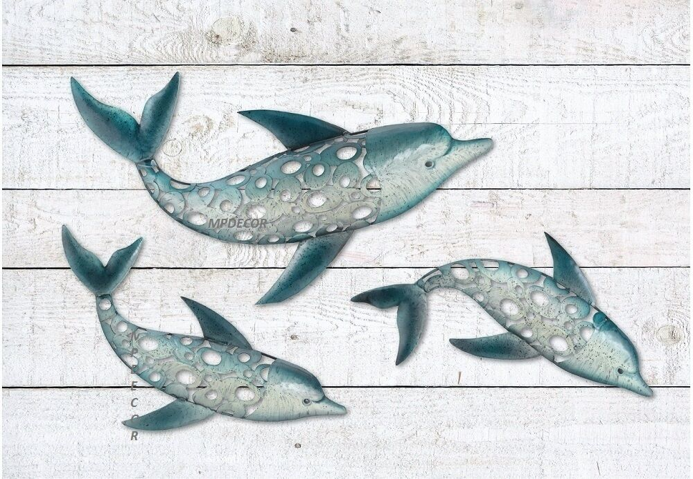 Best Dolphin Fish Wall Art Metal Coastal Nautical Beach Indoor This Month
