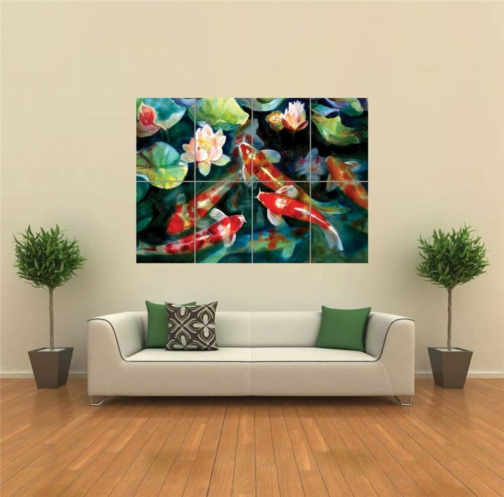 Best Water Fish Pond Koi Carp New Giant Poster Wall Art Print This Month