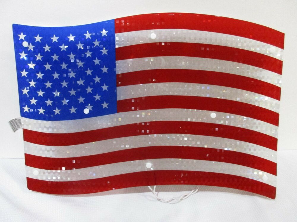 Best Patriotic 4Th Of July Shimmery Lighted American Flag Sign This Month