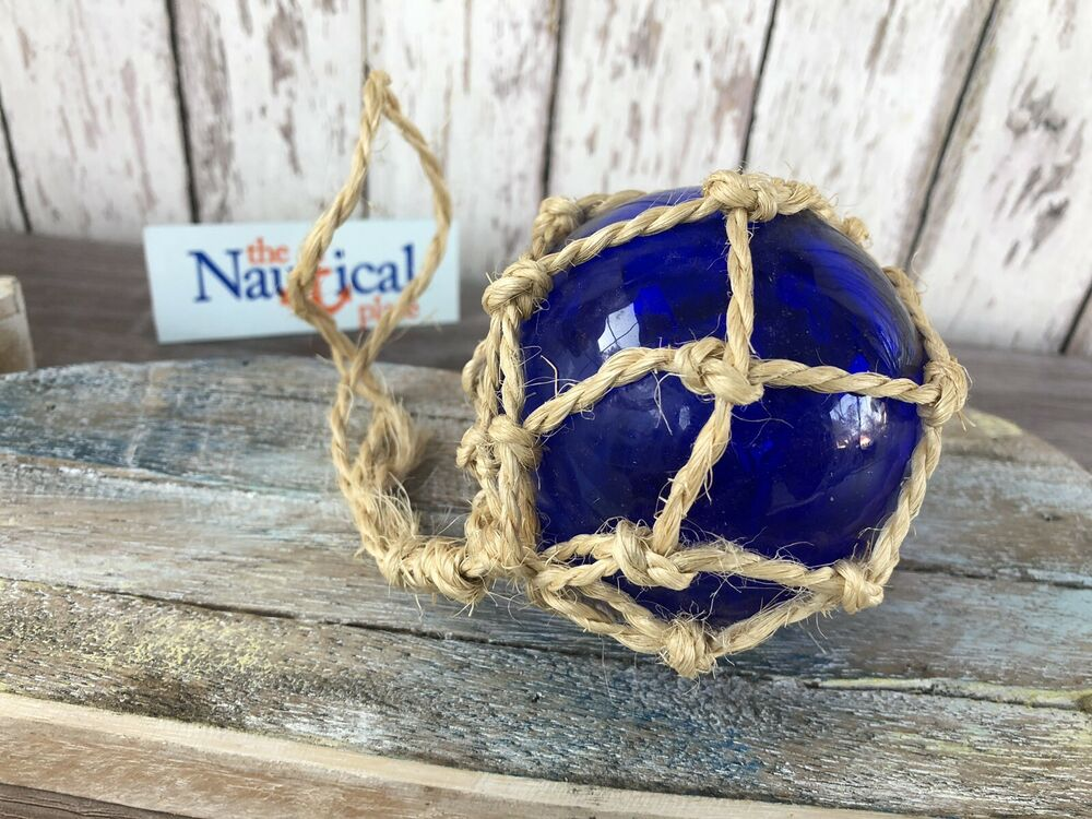 Best 3 Blue Glass Fishing Float Fish Net Buoy Decor This Month