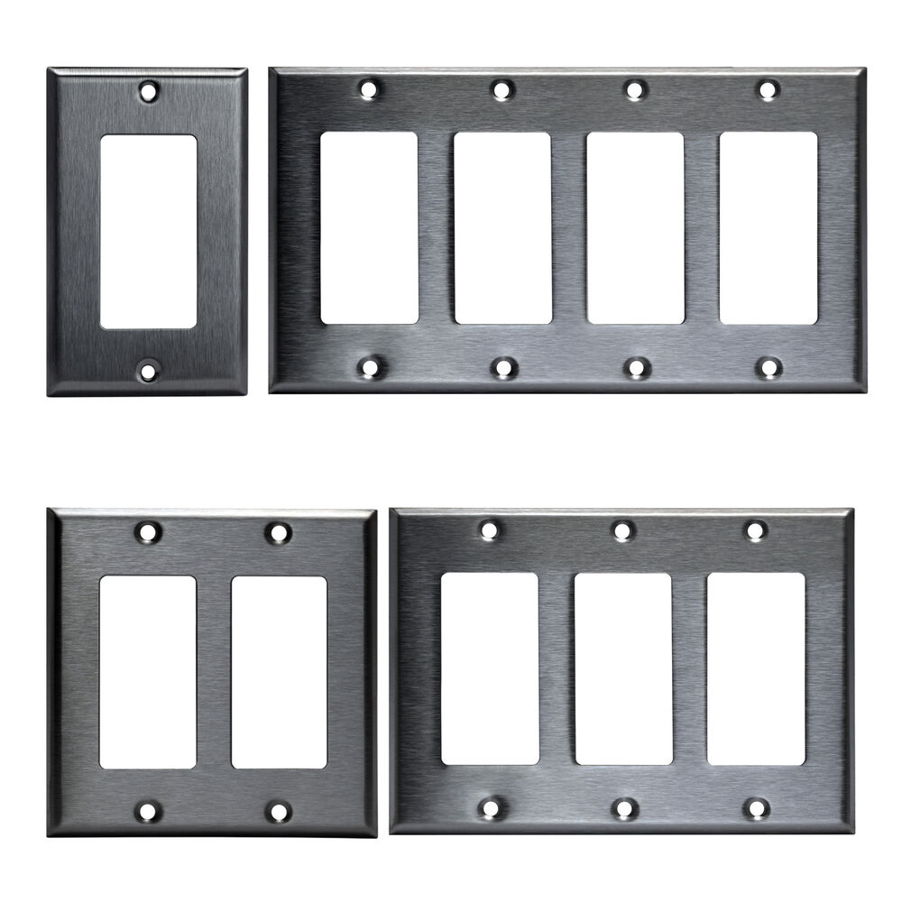 Best Decorator Brushed Stainless Rocker Wall Switch Plate This Month