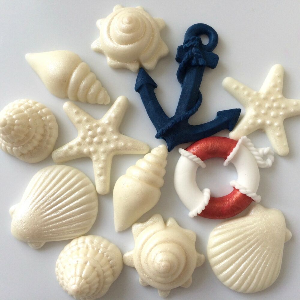 Best Seashells Anchor Lifebuoy Edible Nautical Boat Birthday This Month