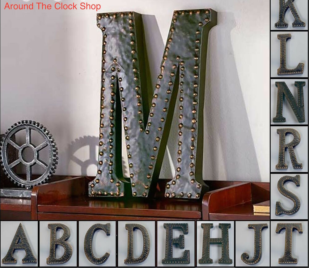 Best Vintage Metal Monogram Initials Industrial Style Wall This Month