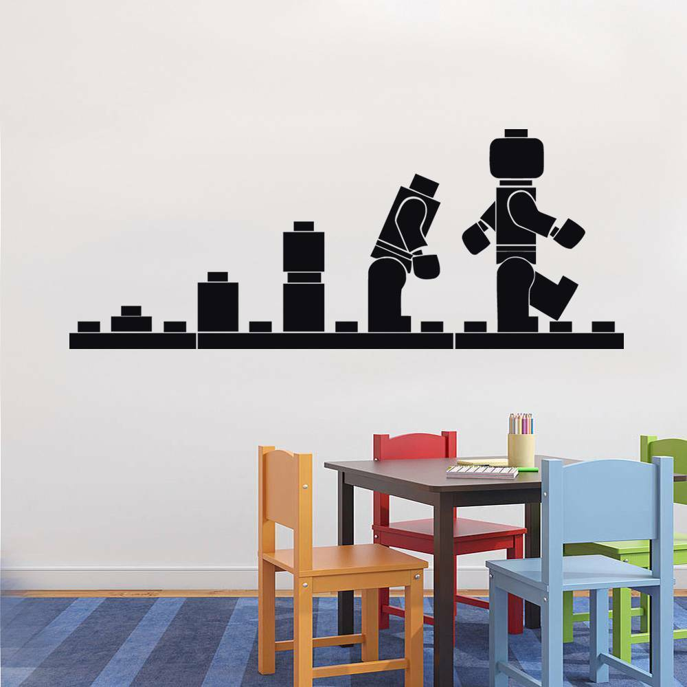 Best Lego Evolution Decal Wall Sticker Home Decor Art Vinyl This Month