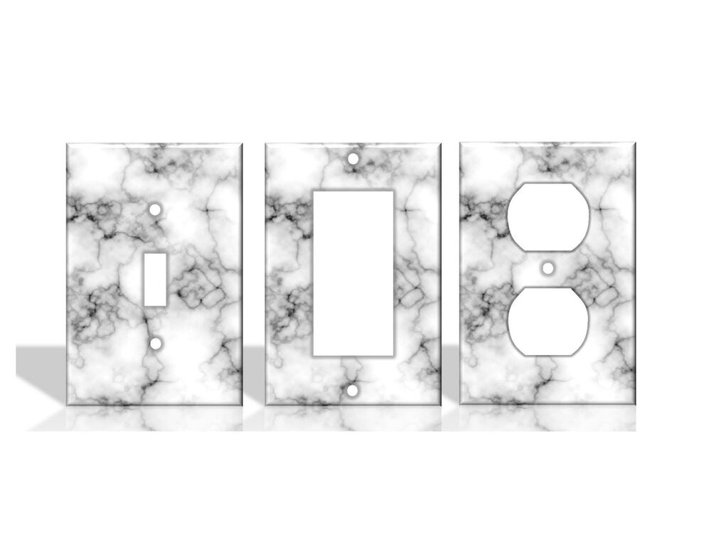 Best Marble White Light Switch Covers Home Decor Outlet Ebay This Month