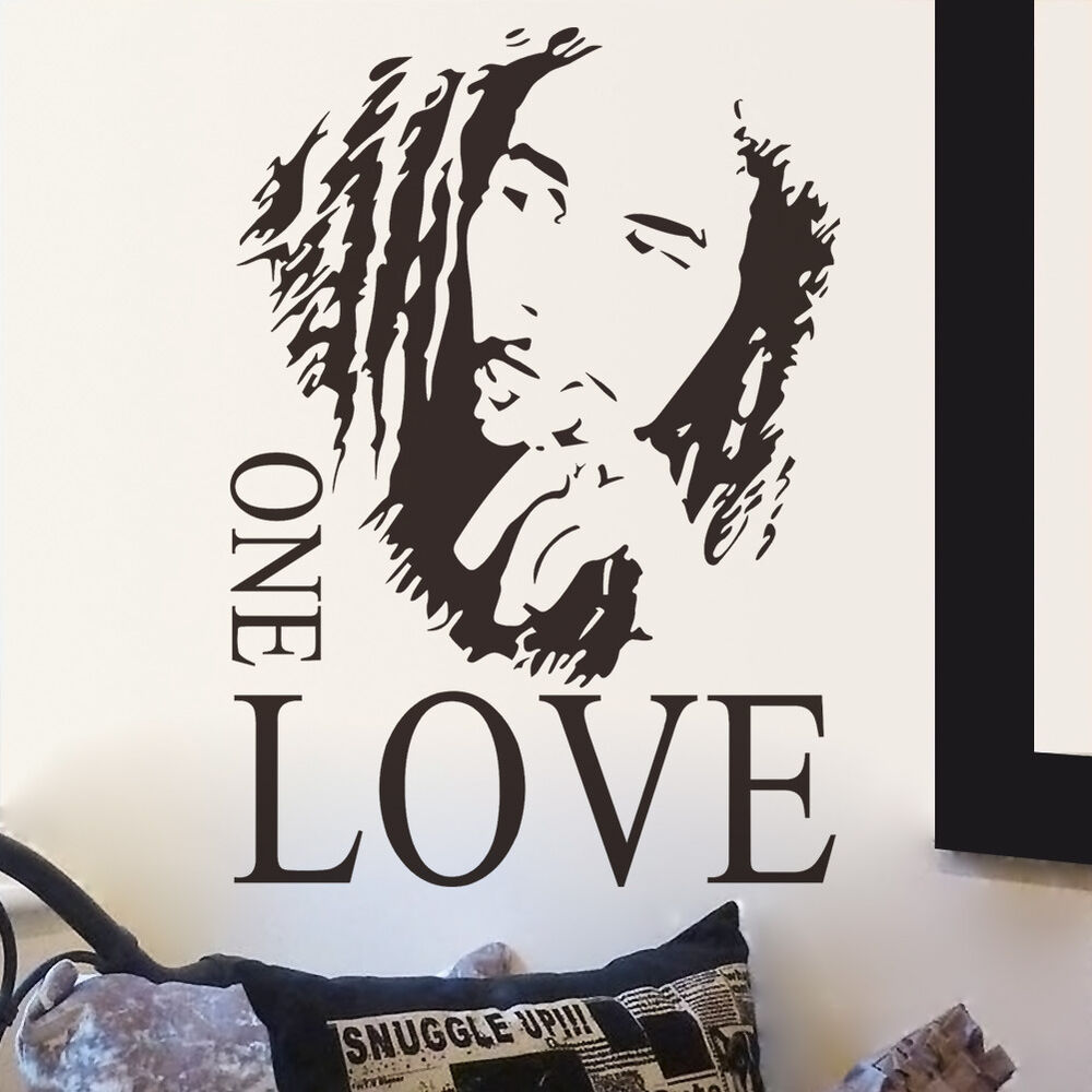 Best Bob Marley One Love Mural Removable Decal Room Wall This Month