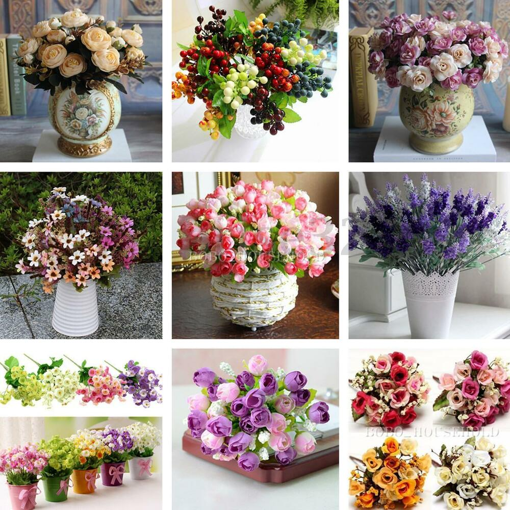 Best Artificial Silk Fake Flowers Leaf Peony Floral Wedding This Month
