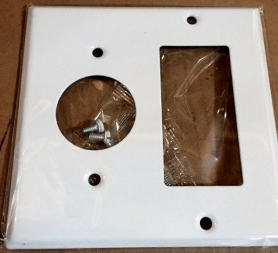 Best 1 Pc 2 Gang Decorator Single Receptacle Wall Plate Cover This Month