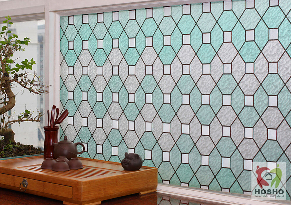Best Privacy Window Film Geometric Decorative Stained Glass 35 This Month