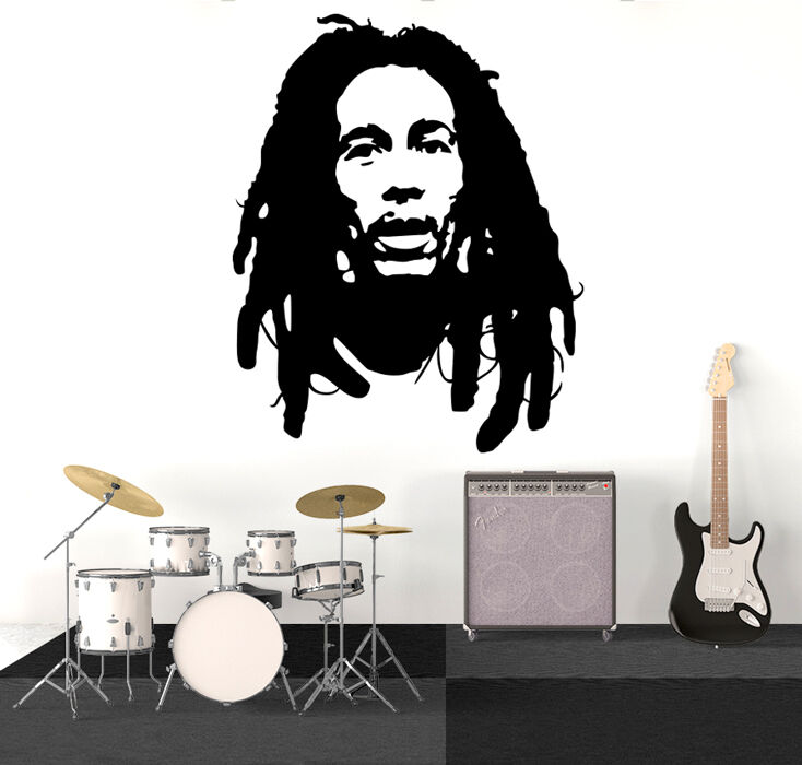 Best Bob Marley Wall Decal Sticker Vinyl Decor Mural Bedroom This Month