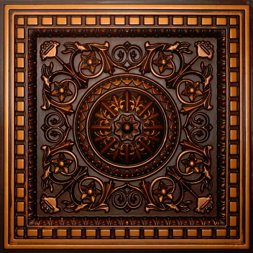 Best Antique Copper D215 Pvc Ceiling Tiles Tin Look Drop In 2X2 This Month