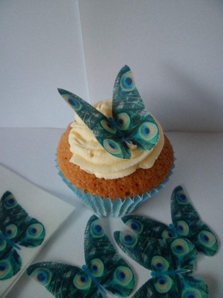 Best 12 Butterflies Peacock Print Fab Edible Cupcake This Month