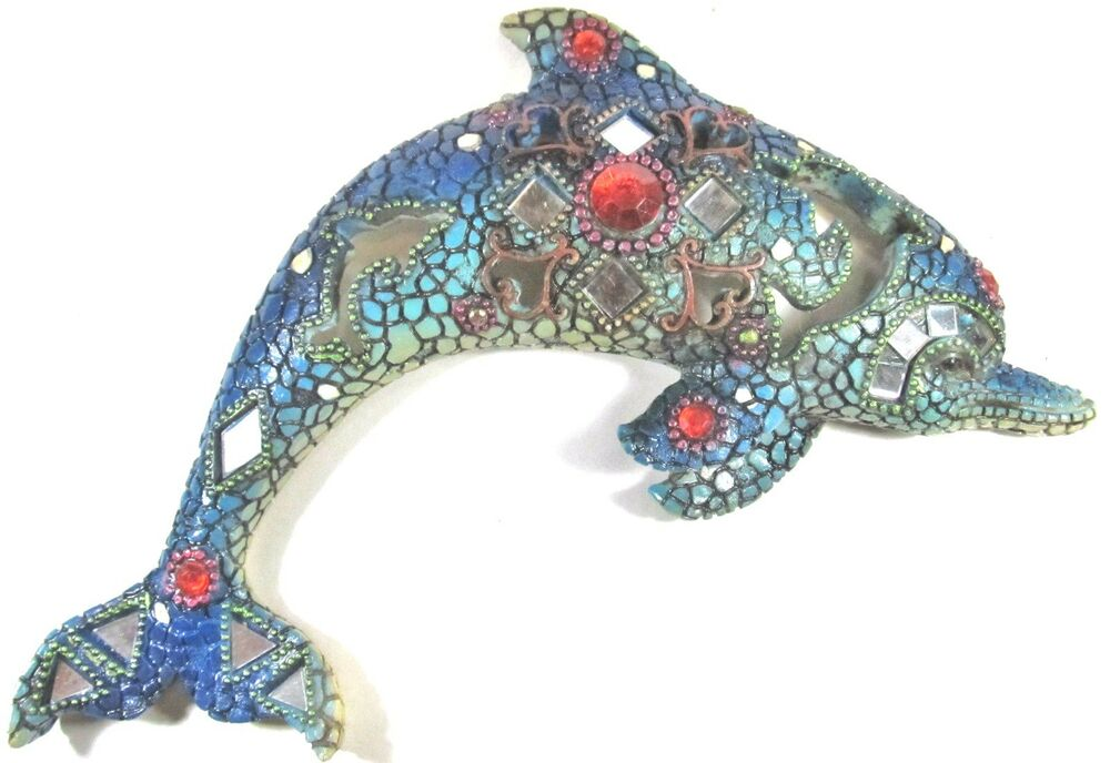 Best Dolphin Wall Art Decor W Mirrors Acrylic Jewels Nautical This Month