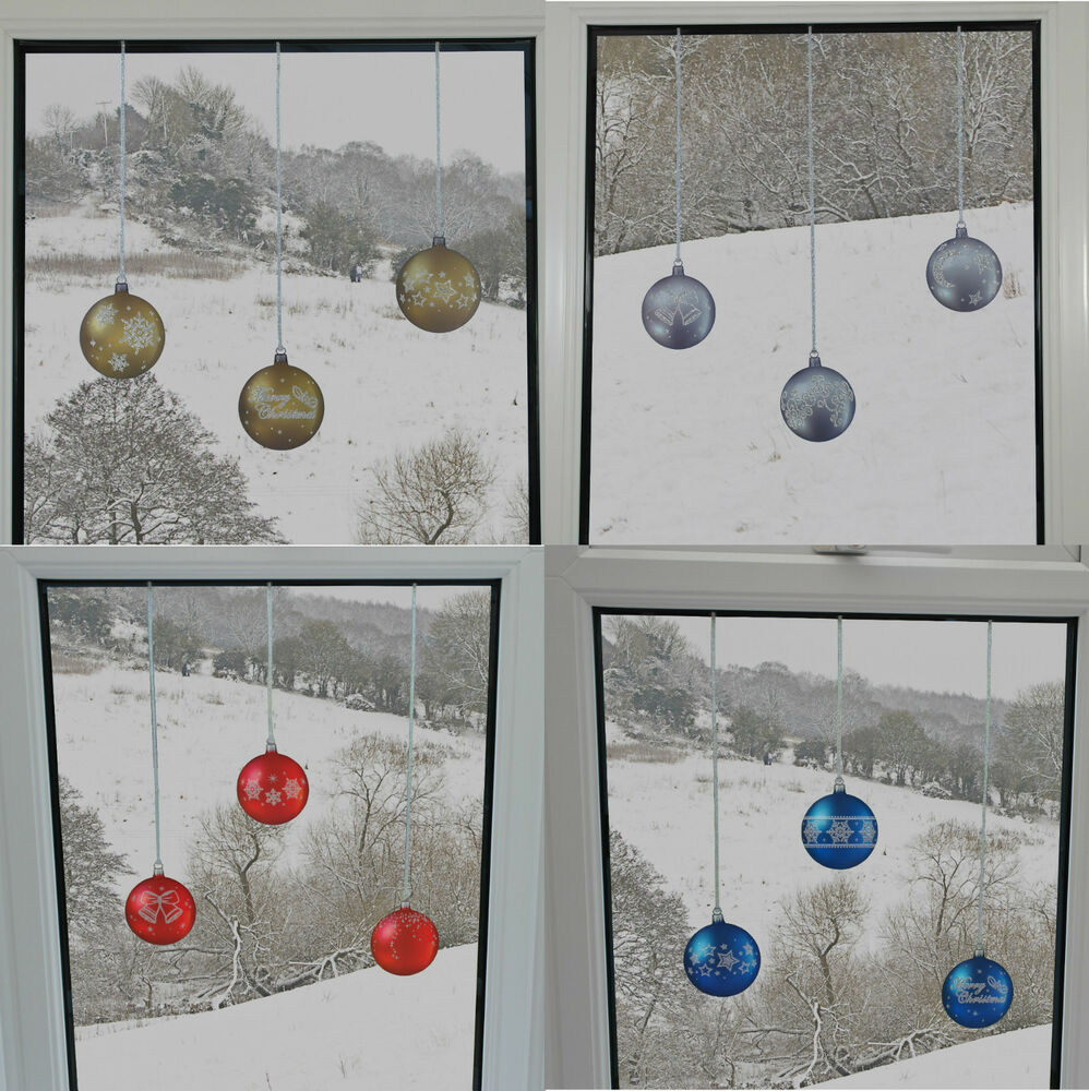 Best Bauble Window Stickers Clings Reusable Christmas This Month