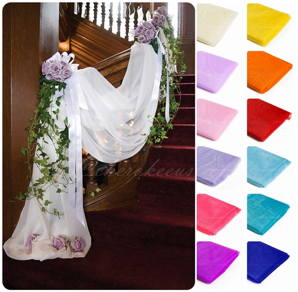 Best 5M 1 35M Table Swags Sheer Organza Fabric Diy Banquet Bow This Month