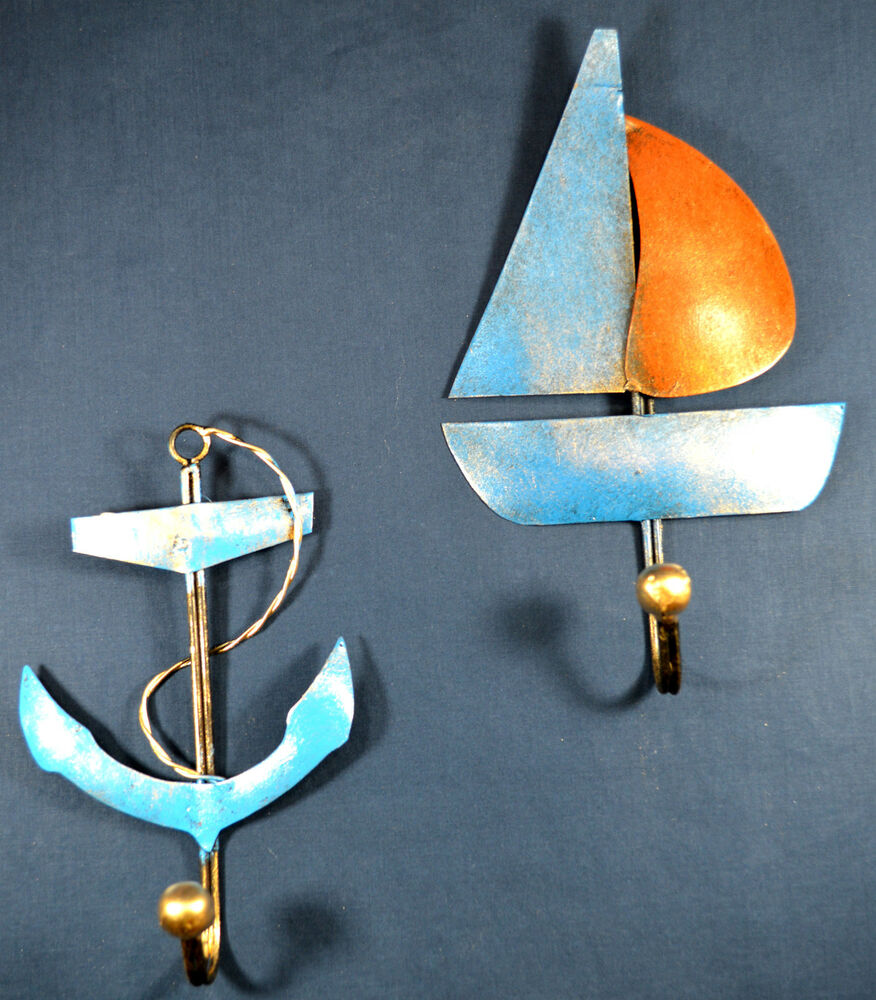 Best Sailboat And Anchor Rustic Metal Decorative Wall Hooks This Month