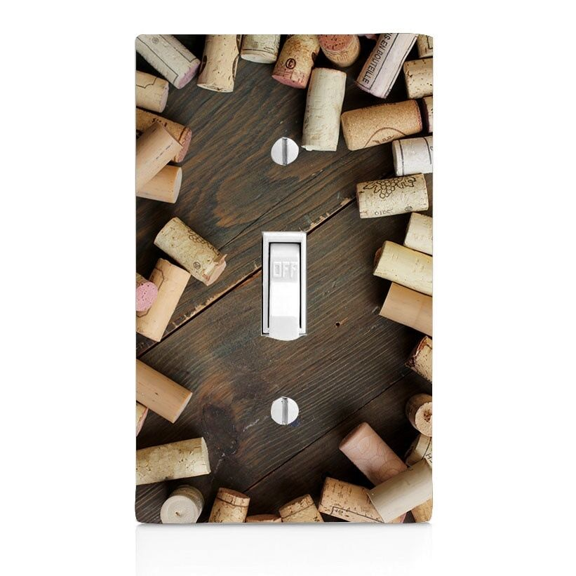 Best Light Switch Plate Cover Wine Corks Wall Plate Toggle This Month