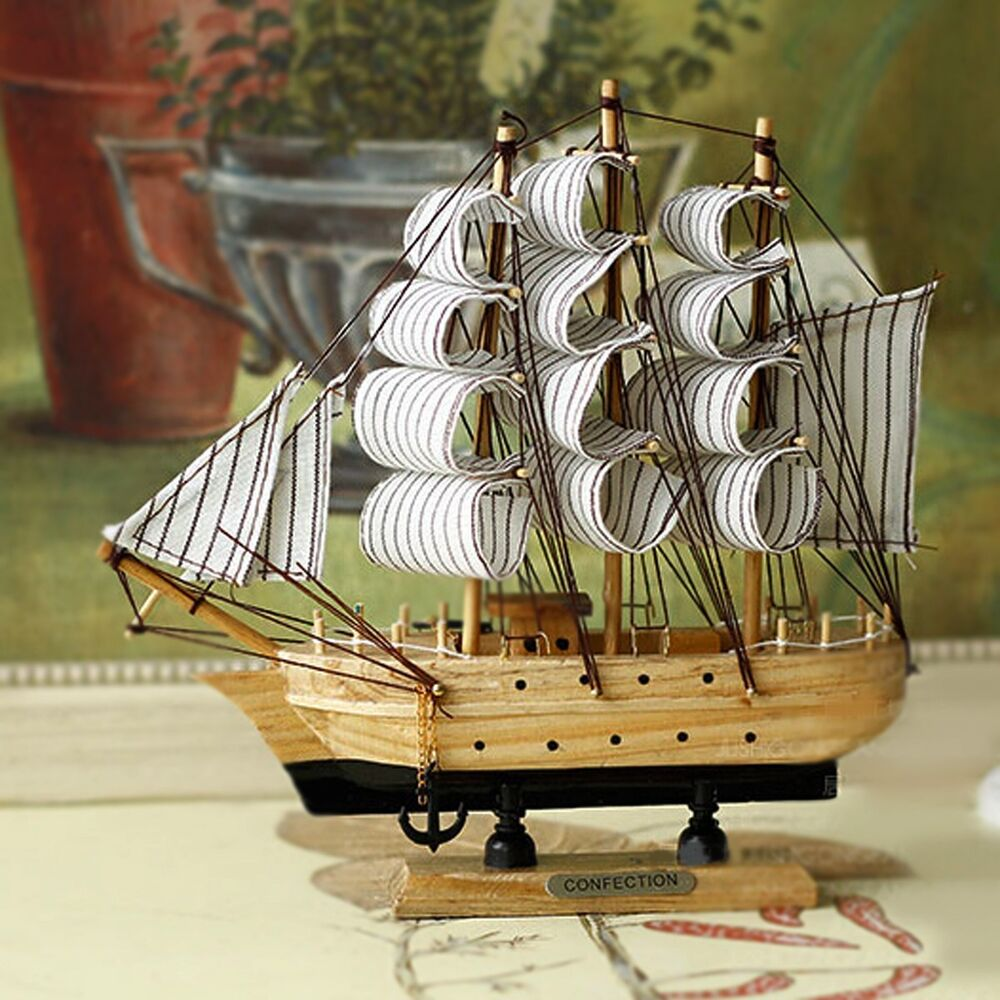 Best Handmade Vintage Nautical Wooden Wood Ship Sailboat Boat This Month