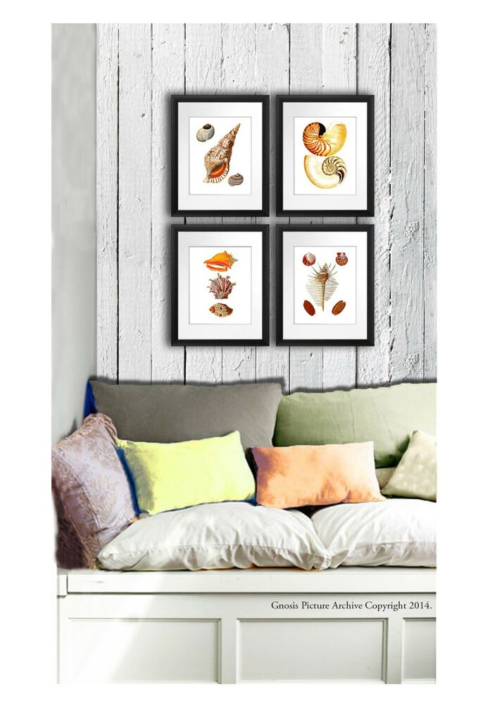 Best Wall Hanging Beach Home Decor Wall Art Set Of 4 Prints This Month