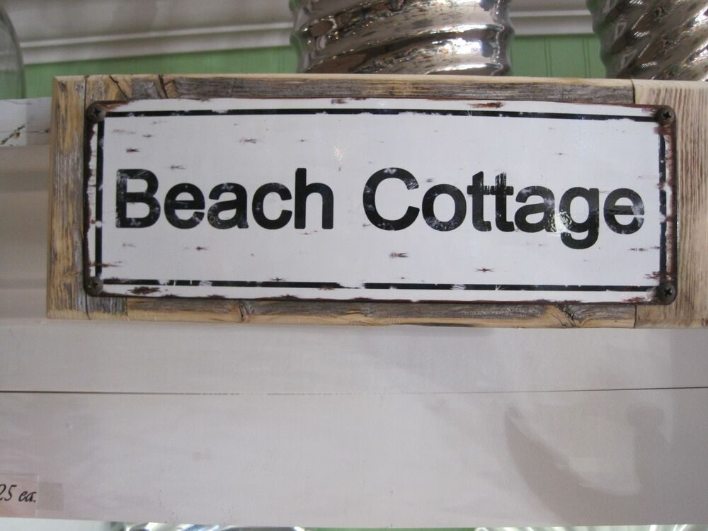 Best Beach Cottage Sign Custom Wooden Sign Beach Decor This Month